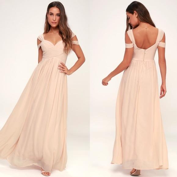72d828107978 Lulu's Dresses | Lulus Make Me Move Blush Maxi Gown | Poshmark